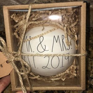 Rae Dunn MR& MRS EST 2019 Ornament
